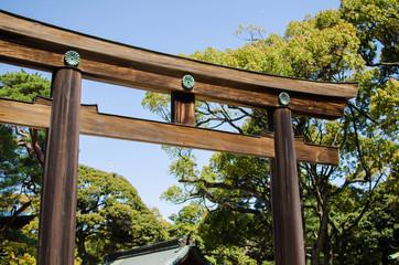 TOKYO, JAPAN - APRIL 15: Meiji-jingu in Tokyo, Japan