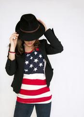 Jeune danseuse américaine