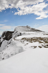 Monte Beriain en invierno, sierra de Andía (Navarra)