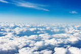 clouds. view from the window of an airplane flying in the clouds - Fine Art prints