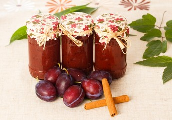 Plum Jams with Cinnamon