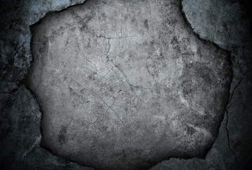 broken concrete wall