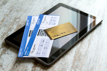 Buying Airline tickets on a tablet