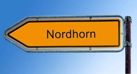Strassenschild 7 - Nordhorn
