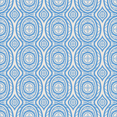 blue pattern with petals