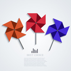 vector modern windmill background.