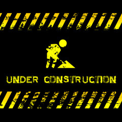 Under construction - grunge illustration for websites