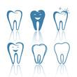 Vector Illustration of Abstract Teeth Designs