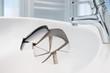 Leinwanddruck Bild - Waschbecken-Schaden