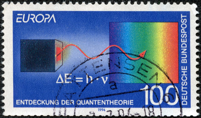 stamp printed in the Germany shows Discovery of Quantum theory