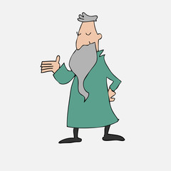Old philosopher with long beard