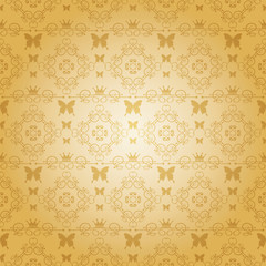 damask decorative wallpaper