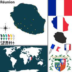 Map of Reunion