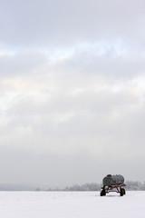 Viehtränke in Winterlandschaft