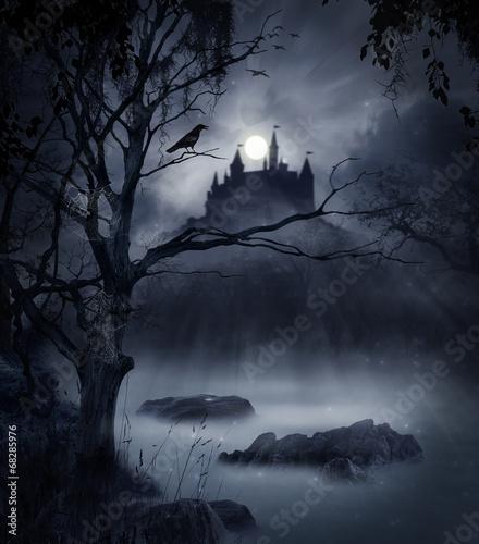 Leinwandbild Motiv Macabre landscape