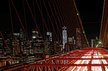 Brooklyn Bridge At Noght