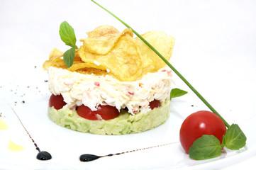 pea salad cheese and tomato