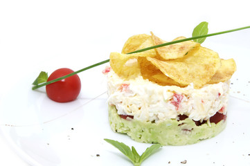 pea salad cheese and tomato