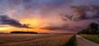 canvas print picture - Dämmerung nach einem Gewitter