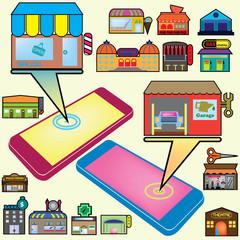 color shop on mobile