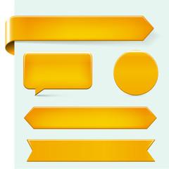 golden web design elements with copy space