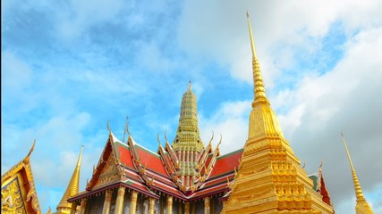 The majestic Grand Palace in Bangkok or Wat Phra Keaw