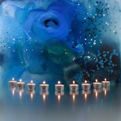 Gemälde mit Kerzen