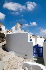 Windmills on the Greek island of Santorini