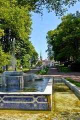 Brunnen im Stadtpark von Aix-les-bains