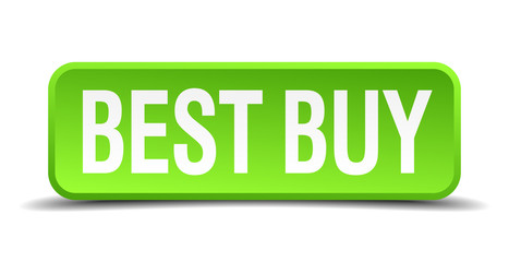 best buy green 3d realistic square isolated button