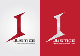 J Justice icon symbol from an alphabet j. Creative marketing.