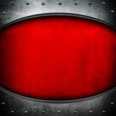 oval metal background