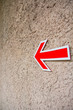 Arrow sign on the street