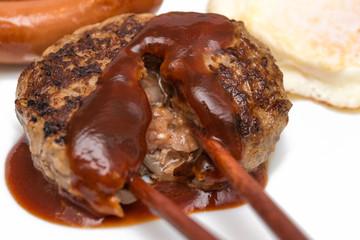 ハンバーグ定食 hamburger