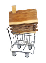 Log Cabin in Shopping Cart