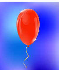 Red balloon, vector illustration