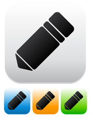 Different color pencil icons