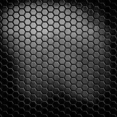 metal background with cellular pattern