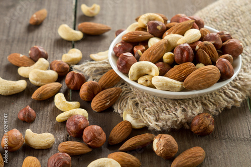 Fotobehang Keuken Assorted nuts