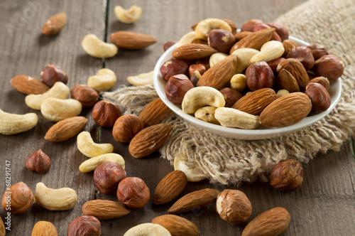 Foto op Aluminium Groenten Assorted nuts
