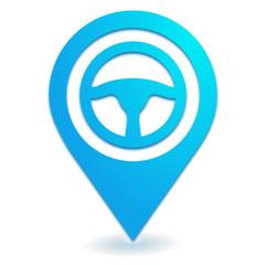 volant sur symbole localisation bleu