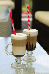 Two glasses of coffee