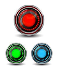 Bright modern buttons