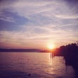 canvas print picture - Sonnenuntergang am Bodensee