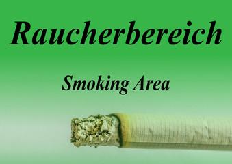 Schild Raucherbereich