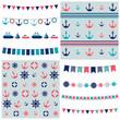 sea theme garland and patterns