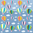 Background with air balloons and clouds