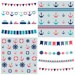 sea theme garland and patterns