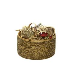 Kleine Schmucktruhe mit Gold
