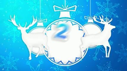 Paper Art 2016 Ornament Decorative Blue Background
